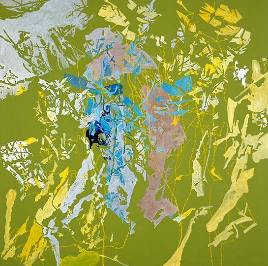 10.2.2004, Öl auf Leinwand, 220 × 222 cm, 2004