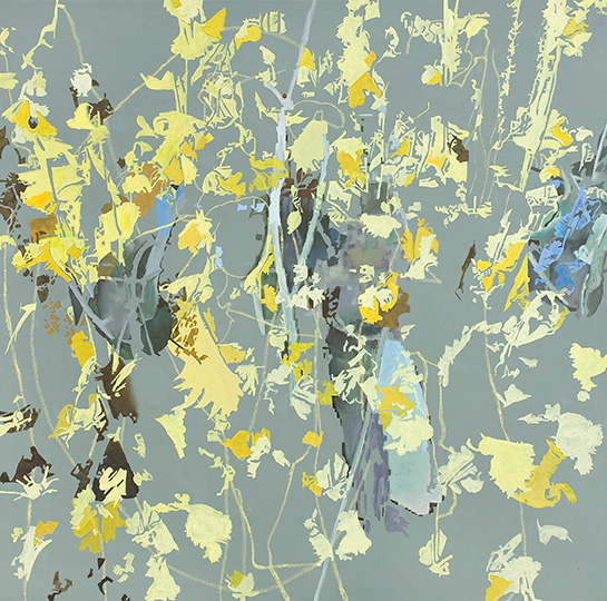 10. Aug. 2009, Öl auf Leinwand, 220 × 222 cm, 2009