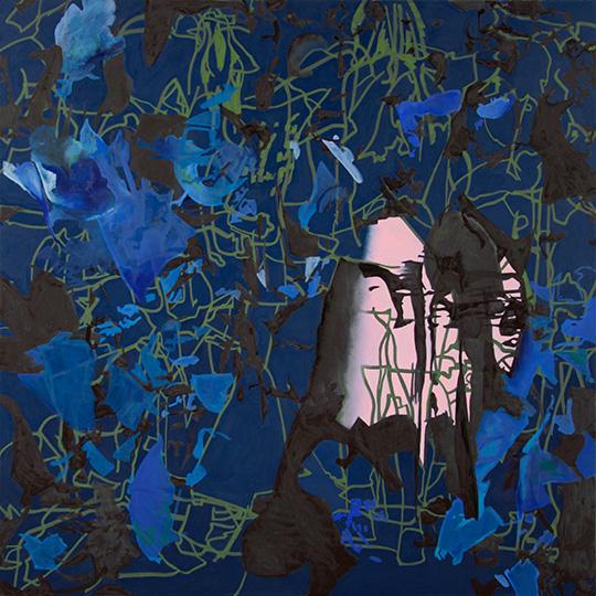10. August 2016, Öl auf Leinwand, 160 × 160 cm, 2016