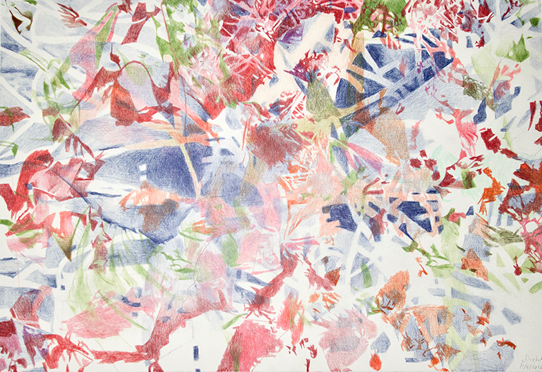 11.11.2016, Buntstift auf Papier, 77 × 112 cm, 2016