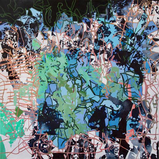 11.7.2020, Öl auf Leinwand, 180 × 180 cm, 2020