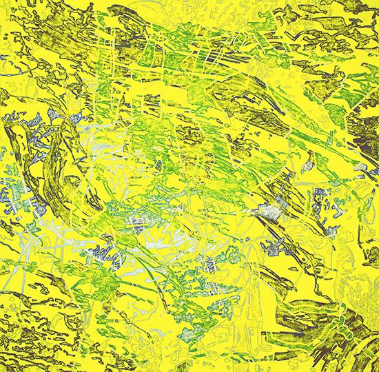11. Okt. 2001, Öl auf Leinwand, 218 × 218,5 cm, 2001