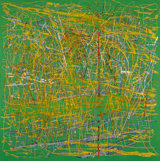13.2.1994, Öl auf Leinwand, 215 × 214 cm, 1994