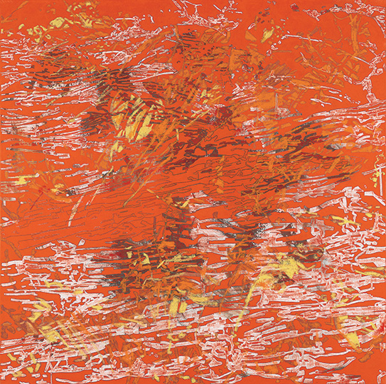 13. März 2000, Öl auf Leinwand, 214 × 215 cm, 2000