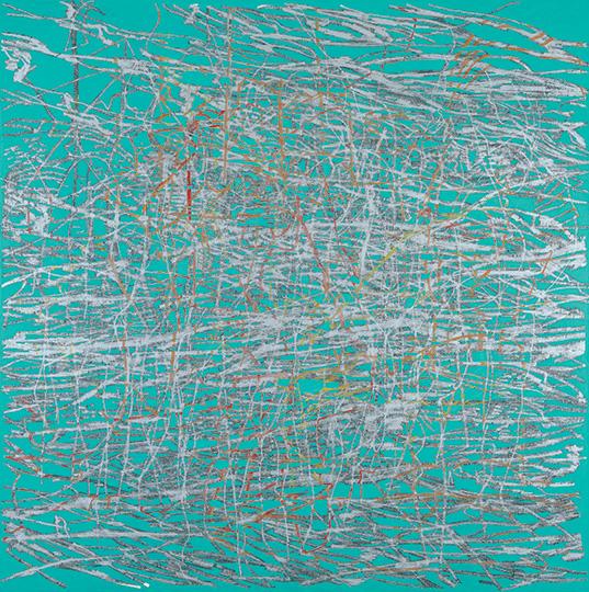 14.3.1994, Öl auf Leinwand, 215 × 214 cm, 1994