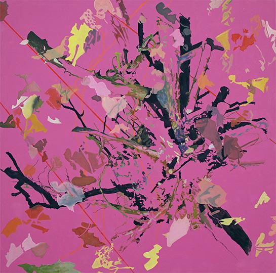 15.07.2011, Öl auf Leinwand, 220 x 222 cm, 2011