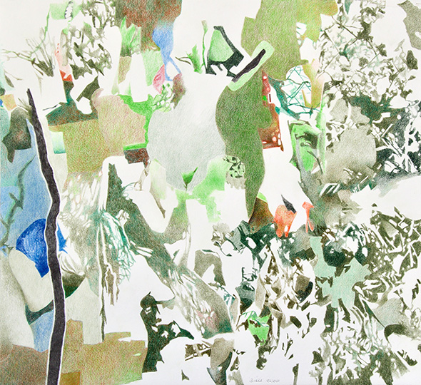 15.2.2020, Buntstift auf Papier, 97 × 104 cm, 2020