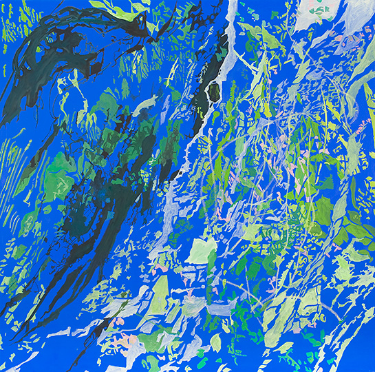 16.6.2009, Öl auf Leinwand, 220 × 222 cm, 2009