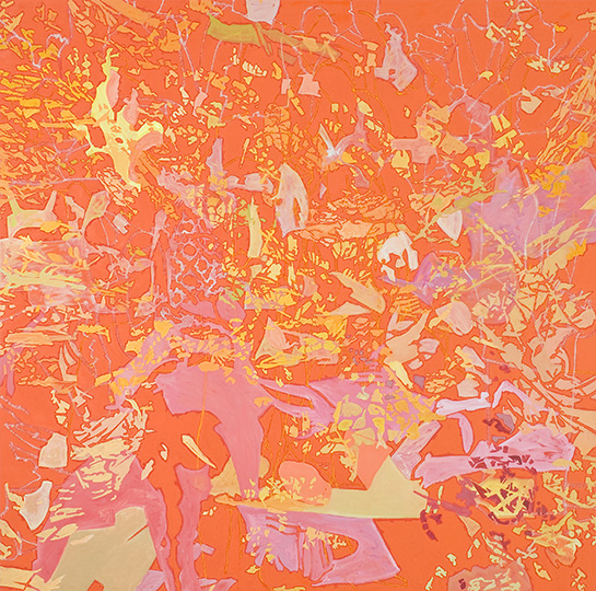 16. Jan. 2009, Öl auf Leinwand, 220 × 222 cm, 2009