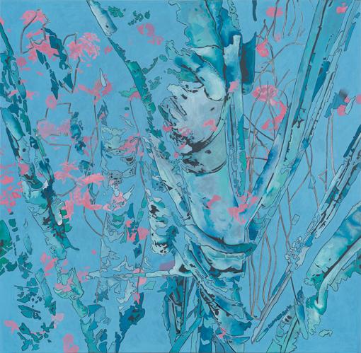 17.1.2013, Öl auf Leinwand, 220 × 222 cm, 2013
