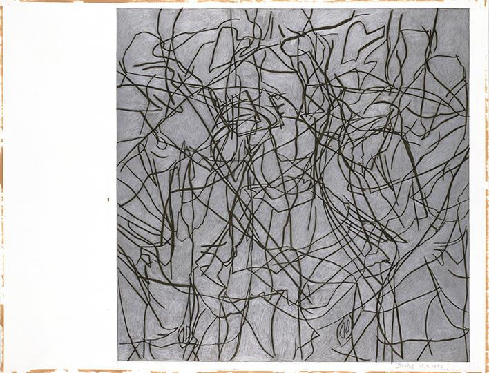 17.4.1992, Silberstift und Kohle auf Papier, 97 × 127 cm, 1992  Sammlung Kupferstichkabinett, Stiftung Preußischer Kulturbesitz, Berlin