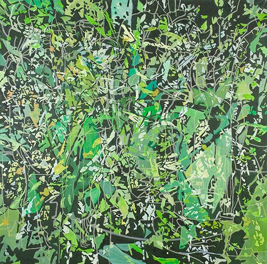 17. Aug. 2007, Öl auf Leinwand, 220 × 222 cm, 2007