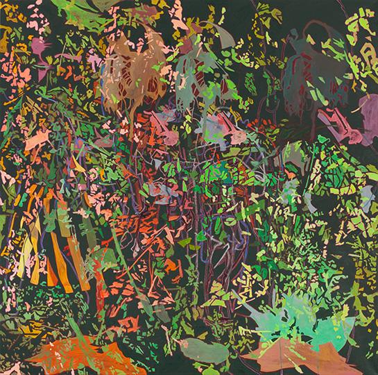 17. Okt. 2009, Öl auf Leinwand, 220 × 222 cm, 2009
