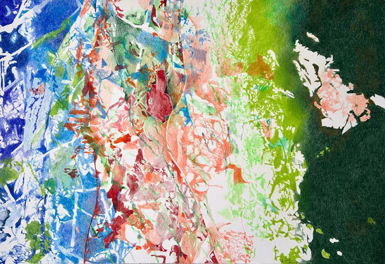 18.11.18, Buntstift auf Papier, 77 × 112 cm, 2018