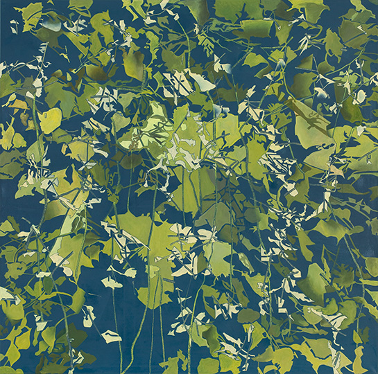 19.1.2010, Öl auf Leinwand, 220 x 222 cm, 2010