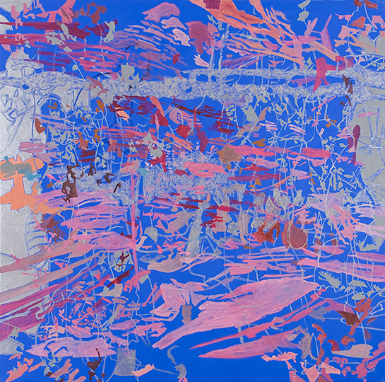 1.1.2009, Öl auf Leinwand, 220 × 222 cm, 2009