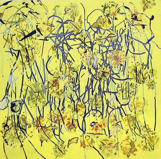 1.1.2011, Öl auf Leinwand, 220 x 222 cm, 2011