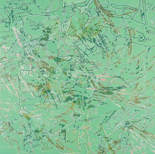 1.2.2001, Öl auf Leinwand, 214 × 215 cm, 2001