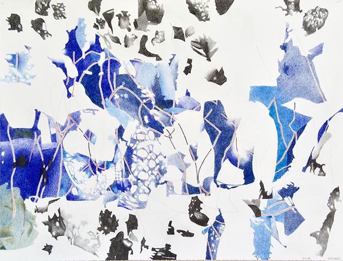 1.5.2020, Buntstift auf Papier, 97 × 127 cm, 2020
