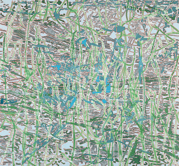 1. Feb. 1999, Öl auf Leinwand, 264 x 285 cm, 1999