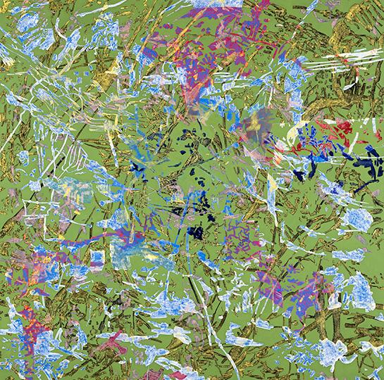 1. Feb. 2004, Öl auf Leinwand, 220 x 222 cm, 2004