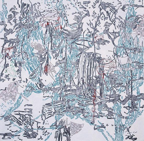 1. März 2001, Öl auf Leinwand, 218 × 218,5 cm, 2007