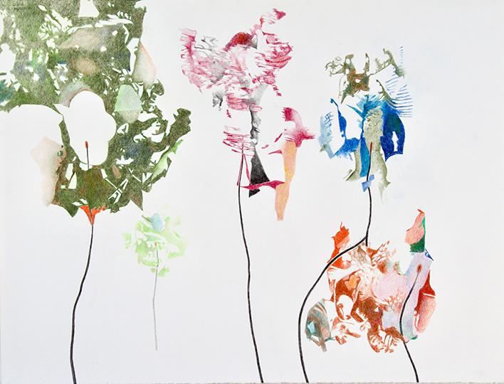 20.11.2019, Buntstift auf Papier, 97 × 127 cm, 2019