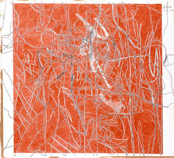 20.3.1992, Bleistift und Buntstift auf Papier, 77 × 107 cm, 1992, Sammlung Kupferstichkabinett, Stiftung Preußischer Kulturbesitz, Berlin