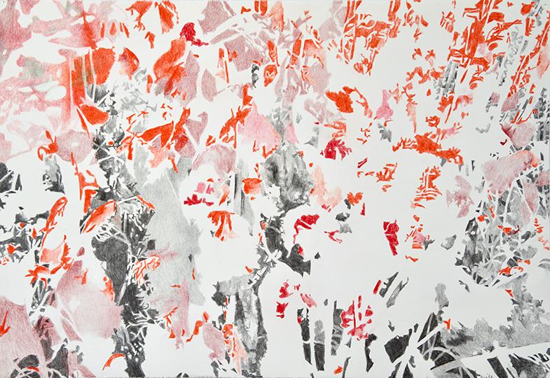 21.2.2017, Buntstift auf Papier, 77 × 112 cm, 2017