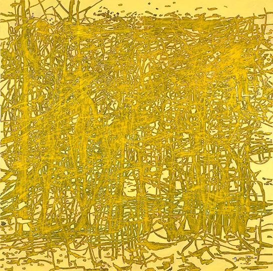 21.3.1996, Öl auf Leinwand, 220 × 222 cm, 1996  Sammlung der Nord Deutschen Landesbank, Hannover