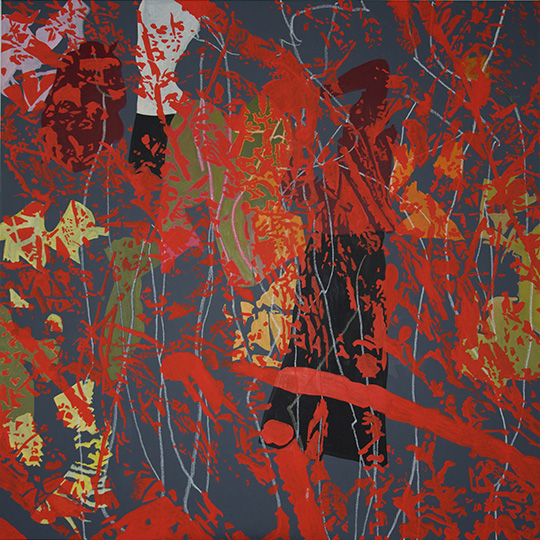23.5.16, Öl auf Leinwand,  160 × 160 cm, 2016