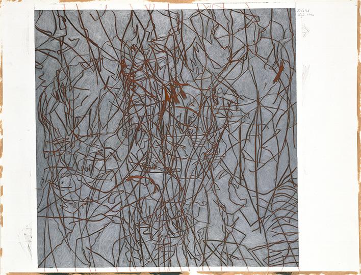 25.3.1992, Silberstift und Rötel auf Papier, 77 × 112 cm, 1992  Sammlung Kupferstichkabinett, Stiftung Preußischer Kulturbesitz, Berlin