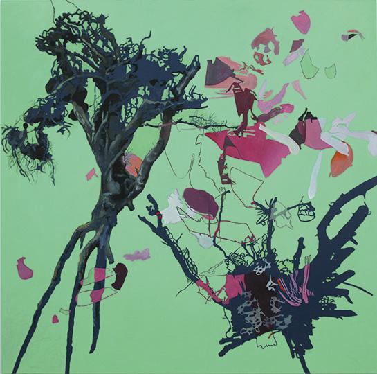 28.06.2011, Öl auf Leinwand, 220 x 222 cm, 2011