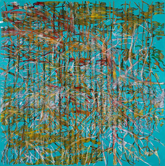 28.5.1994, Öl auf Leinwand, 215 × 214 cm , 1994