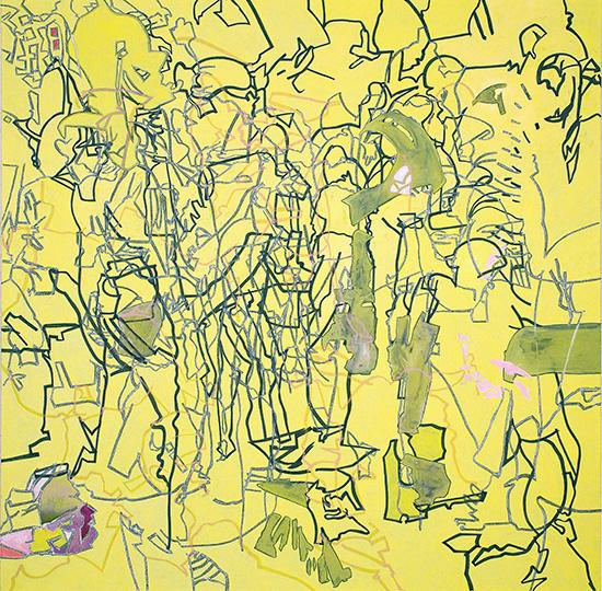 28 Okt, 2007, Öl auf Leinwand, 218 × 218,5 cm, 2007
