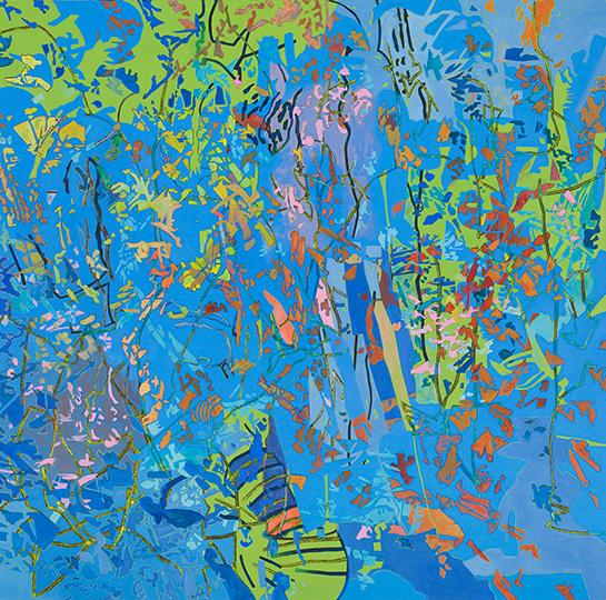 2.1.2010, Öl auf Leinwand, 220 x 222 cm, 2010