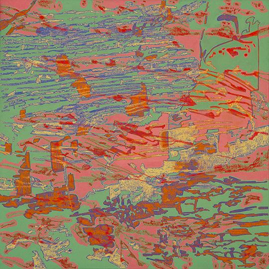 2. März 2003, Öl auf Leinwand, 117 × 117 cm, 2003
