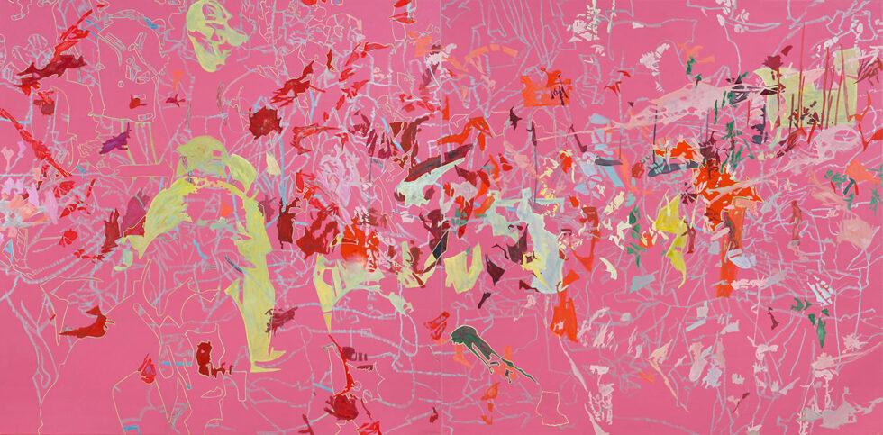 31.5.2006, Öl auf Leinwand, 2-teilig, 220 × 444 cm, 2006