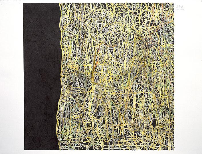 4.6.1993, Bleistift und Buntstift auf Papier, 97 × 127 cm, 1993