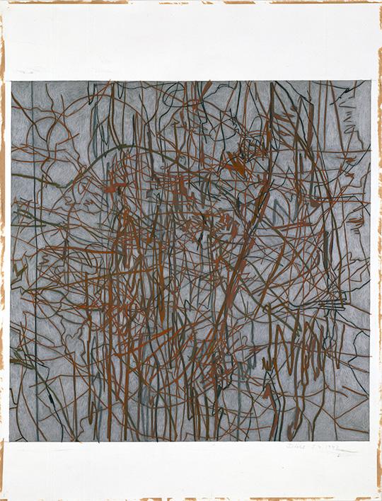 5.4.1992, Silberstift, Buntstift und Rötel auf Papier, 112 × 77 cm, 1992, Sammlung Kupferstichkabinett, Stiftung Preußischer Kulturbesitz, Berlin