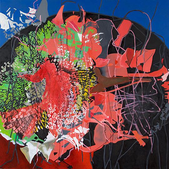 5. Sept. 2016, Öl auf Leinwand, 160 × 160 cm, 2016