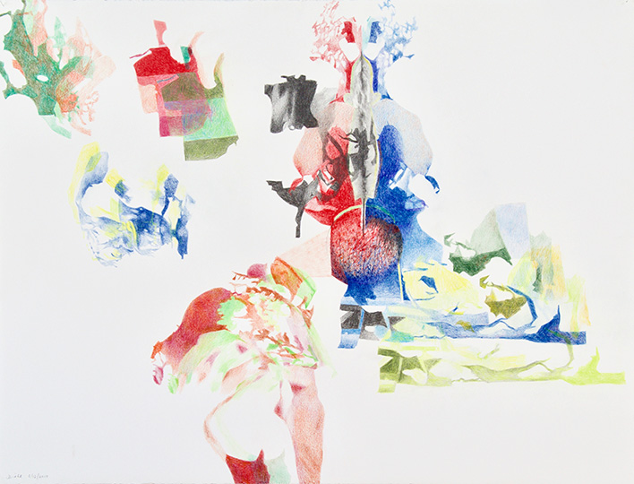 6.12.2019, Buntstift auf Papier, 97 × 127 cm, 2019