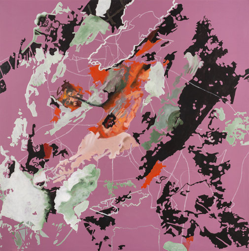 6.8.2013, Öl auf Leinwand, 220 × 222 cm, 2013