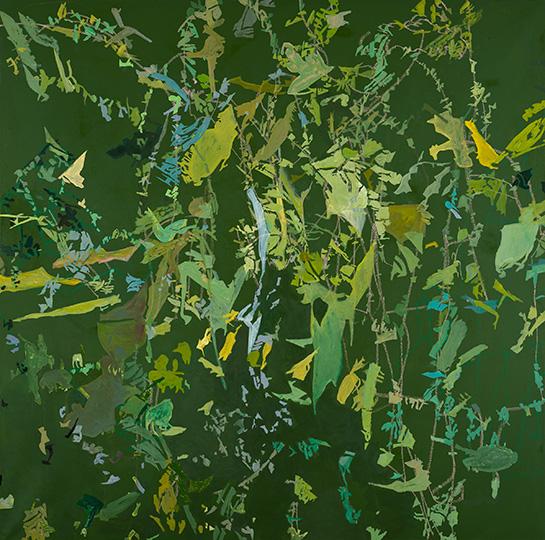 7.01.2005, Öl auf Leinwand, 220 x 222 cm, 2005