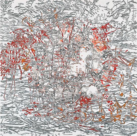 8. Januar 2000, Öl auf Leinwand, 214 × 215 cm, 2000