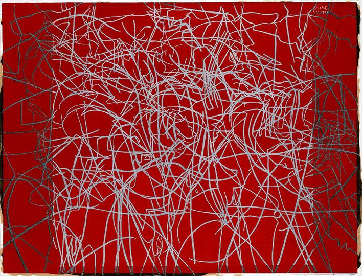 9.10.1992, Gouache auf Papier, 97 × 127 cm, 1992