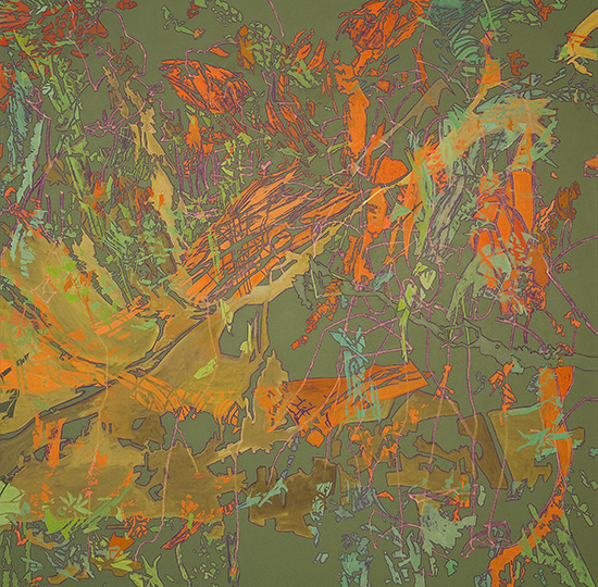 Aug 16, 2004, Öl auf Leinwand, 218 × 218,5 cm, 2004
