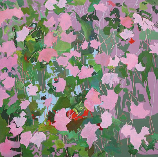 August 2011, Öl auf Leinwand, 220 x 222 cm, 2011