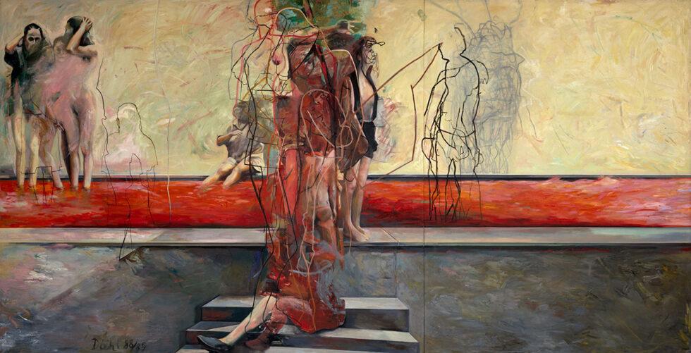 Der äußere Ring, Öl auf Leinwand, 282 x 553 cm, 1988/89