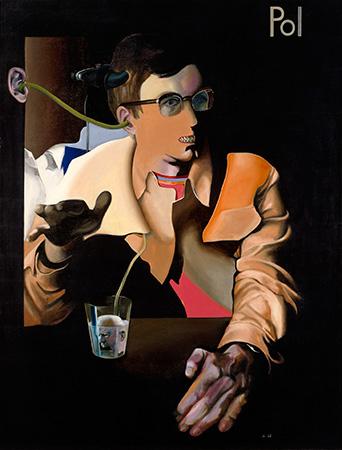 Der umfunktionierte Student, Öl auf Leinwand, 150 × 115 cm, 1968  Courtesy Neue Nationalgalerie, Stiftung Preußischer Kulturbesitz, Berlin